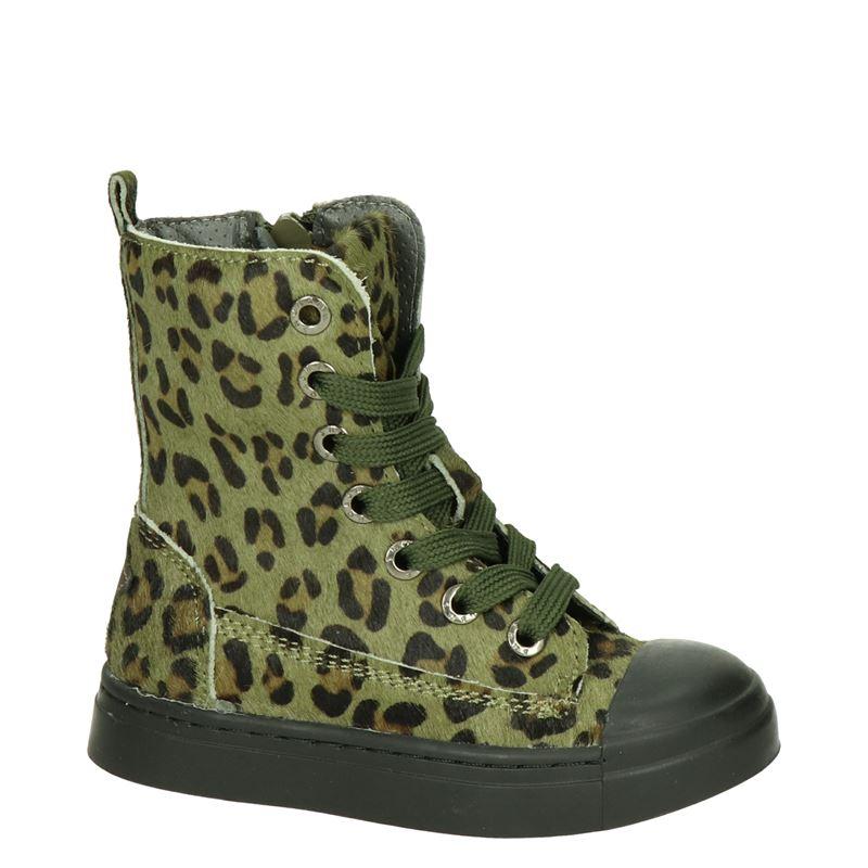 Shoesme - Veterboots - Groen
