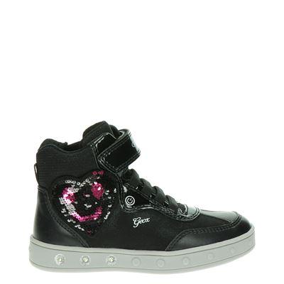Geox meisjes klittenbandschoenen zwart