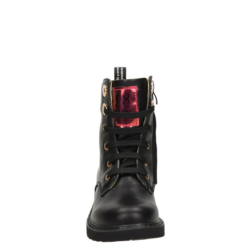 Shoesme - Veterboots - Zwart