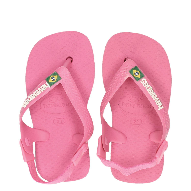 689f6a6b644 Havaianas Babybrasil Logo meisjes sandalen roze