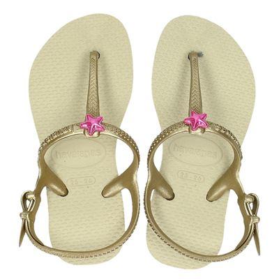 Havaianas meisjes sandalen goud