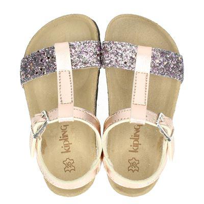 Kipling meisjes sandalen rose goud
