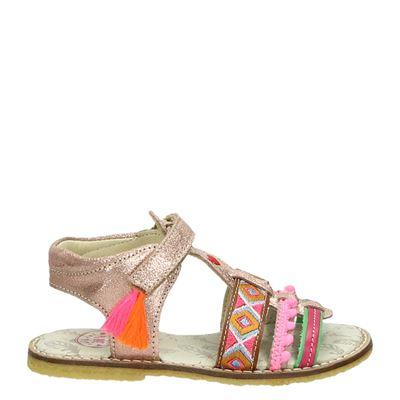 Shoesme meisjes klittenbandschoenen rose goud