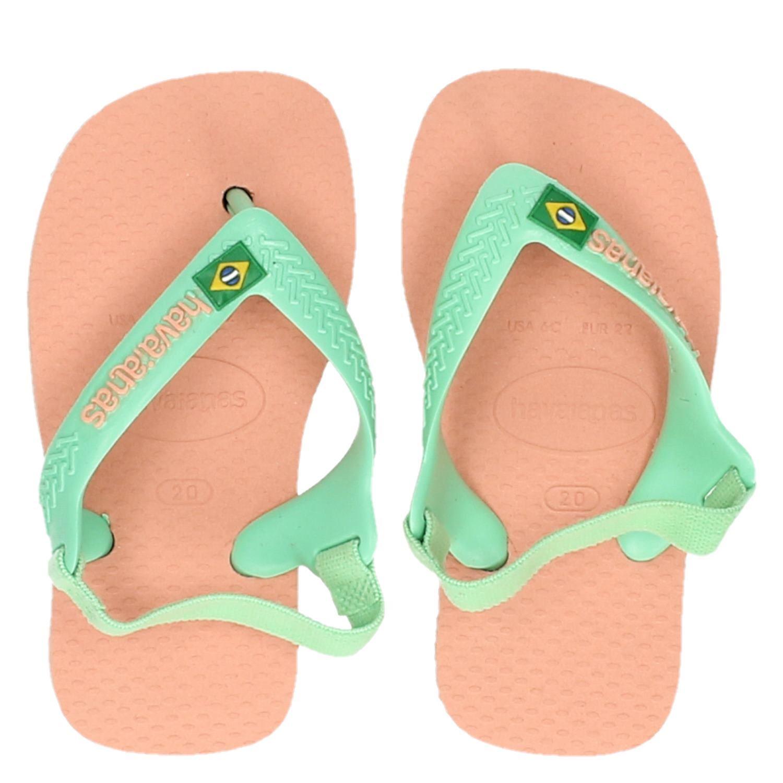 acf829c0403 Havaianas Baby Brasil Logo meisjes babyschoenen groen