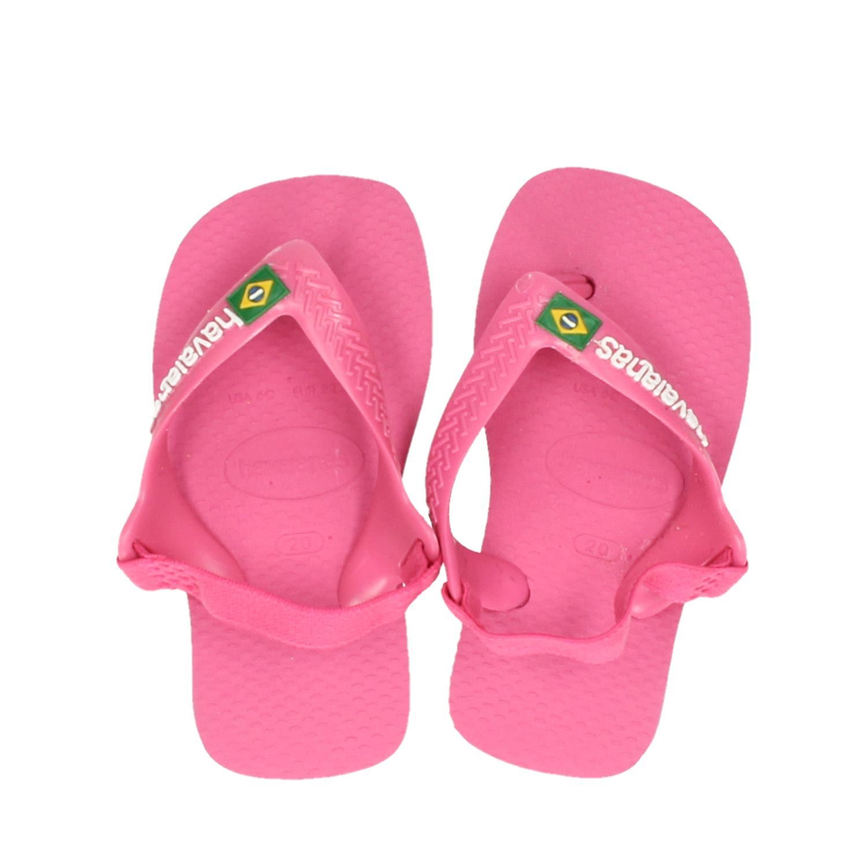 af74dead97f Havaianas Baby Brasil logo meisjes slippers roze
