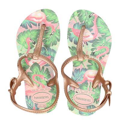 Havaianas meisjes slippers rose goud