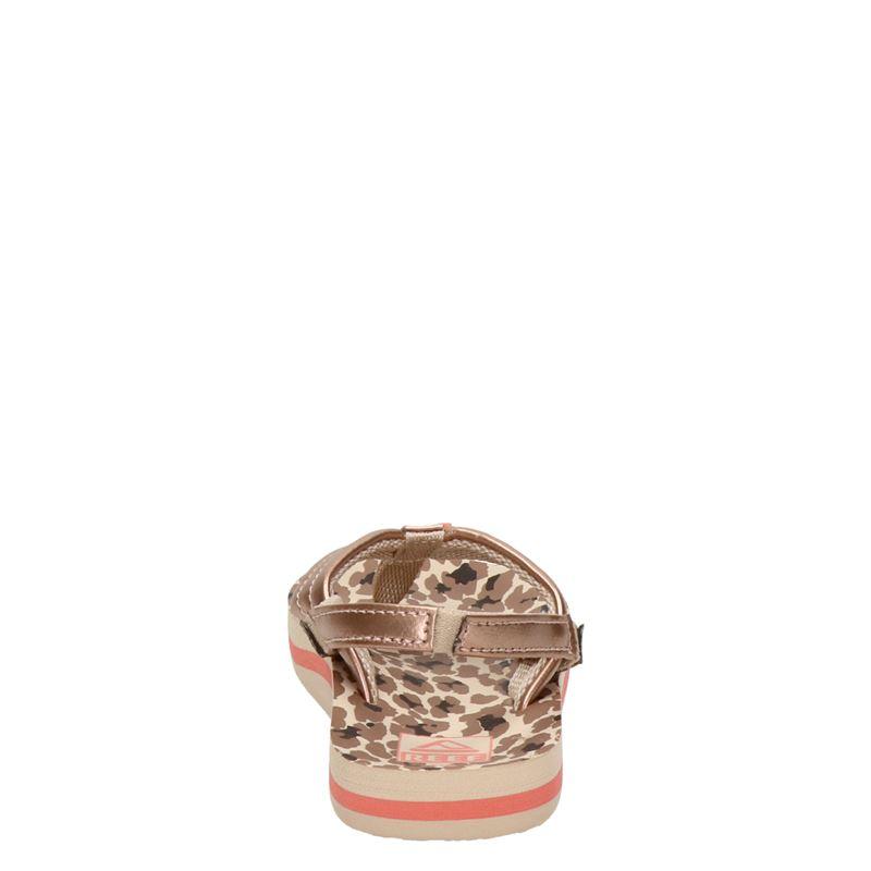 Reef Little Ahi Cheetah - Slippers - Rose goud