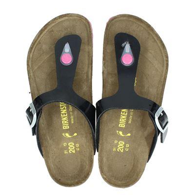 Birkenstock meisjes slippers zwart