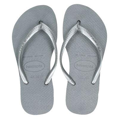 Havaianas meisjes slippers zilver