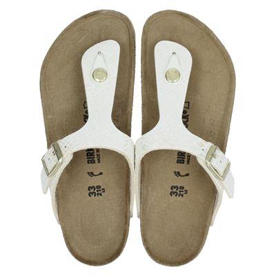 Birkenstock meisjes slippers ecru