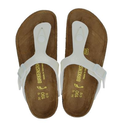 Birkenstock meisjes slippers wit