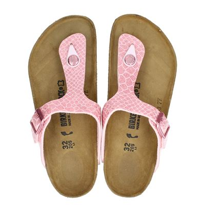 Birkenstock meisjes slippers roze