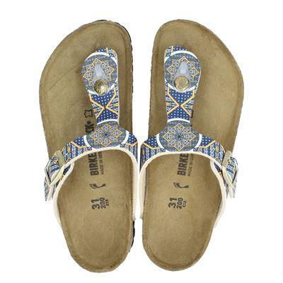 Birkenstock meisjes slippers blauw