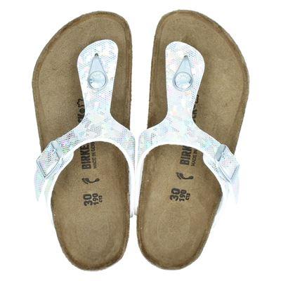 Birkenstock meisjes slippers zilver