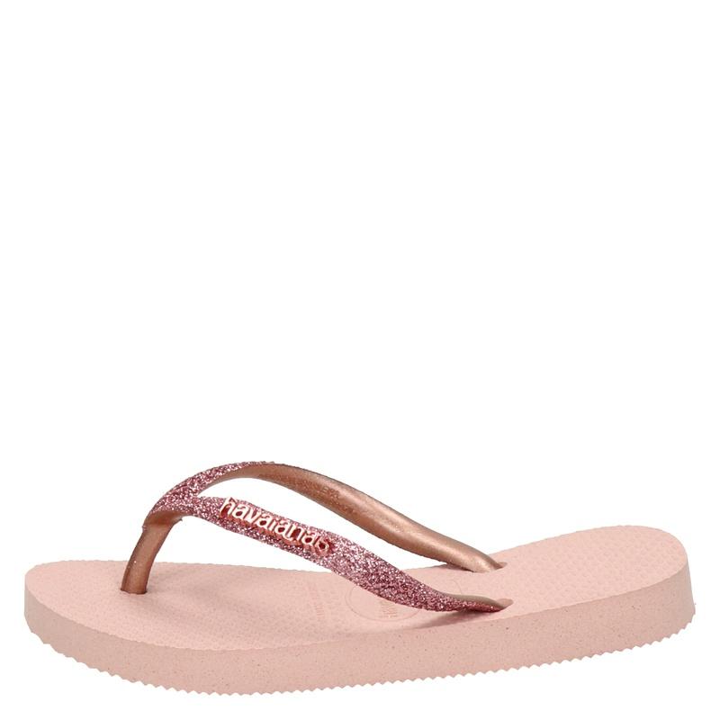 Havaianas Kids Slim Shiny Glitter - Slippers - Roze