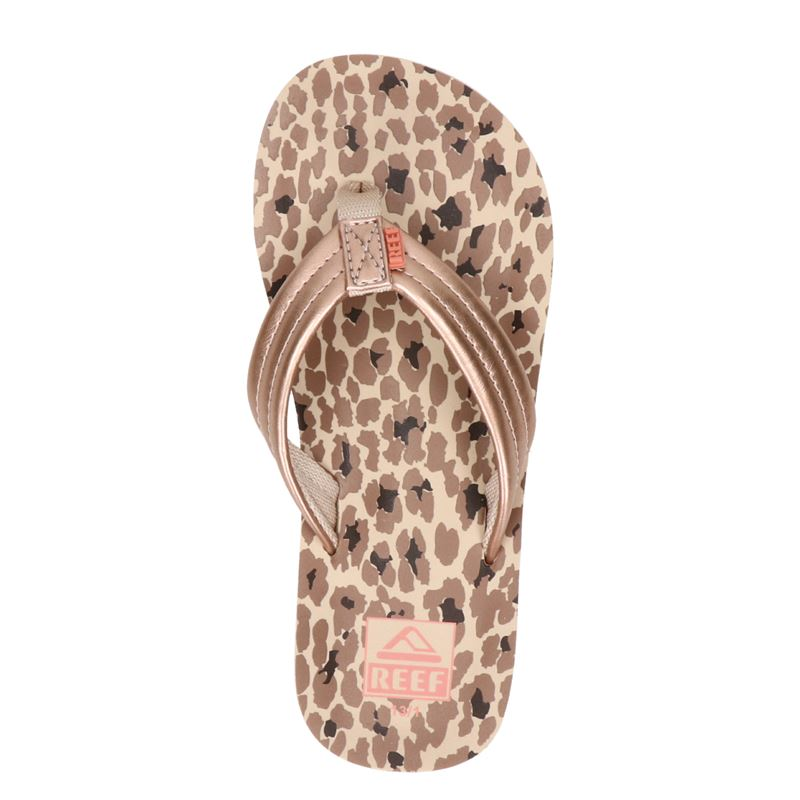 Reef Ahi Cheetah - Slippers - Rose goud