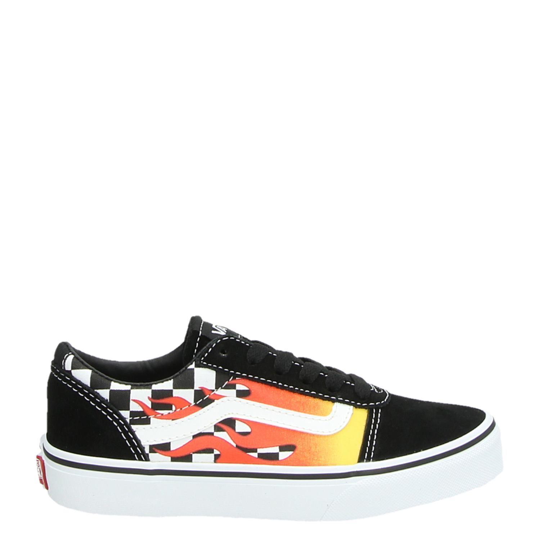 25a55e25e97137 Vans YT Ward Flame jongens/meisjes lage sneakers multi