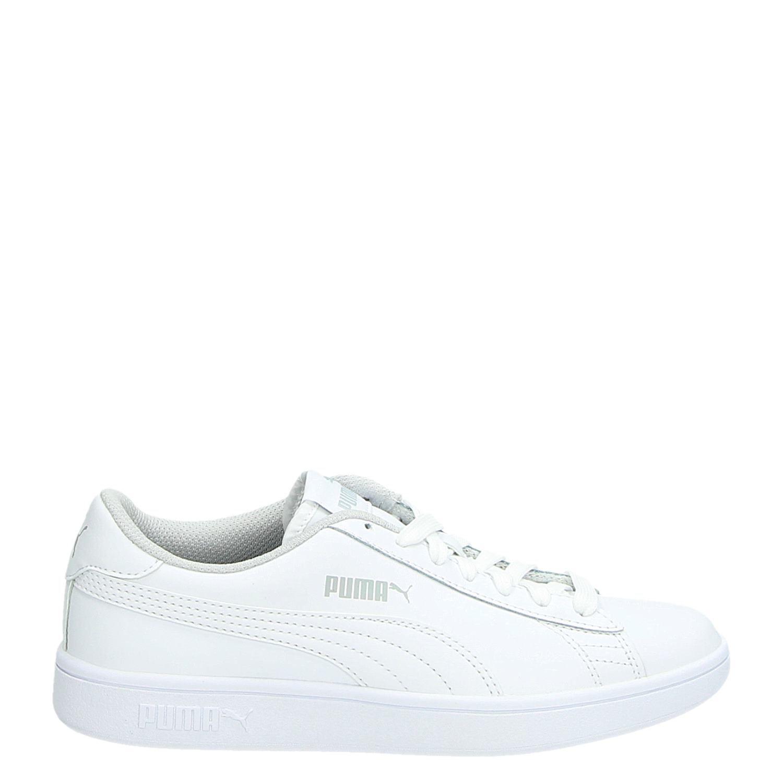 906b0d136ef Puma Smash v2 l jongens/meisjes lage sneakers wit