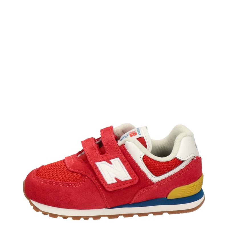 New Balance 574 Classic - Klittenbandschoenen - Rood