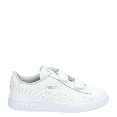 Puma jongens/meisjes klittenbandschoenen wit