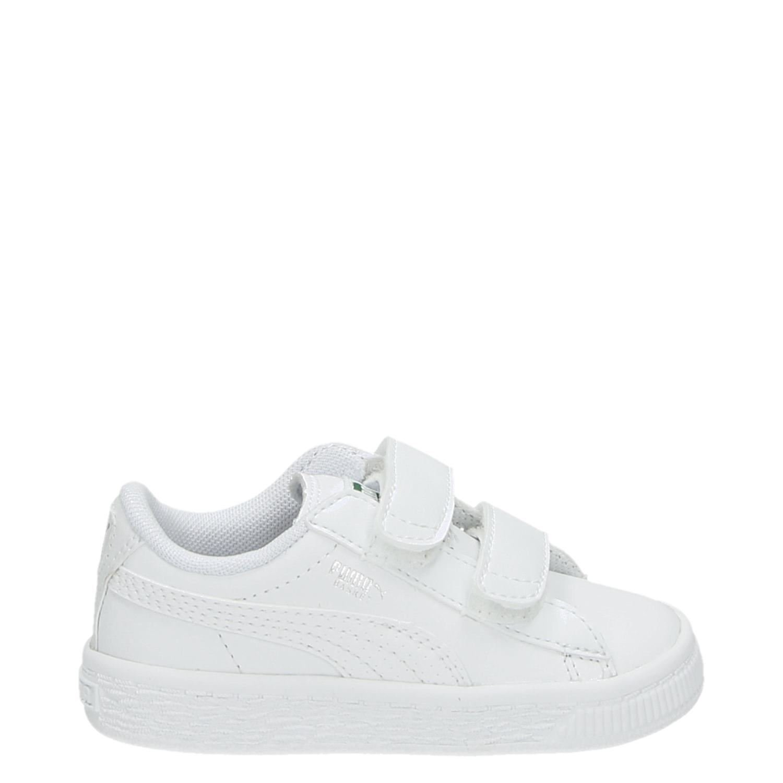 ef47e97c7f9 Puma Basket Classic jongens/meisjes lage sneakers wit