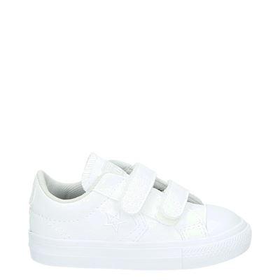 Converse jongens/meisjes klittenbandschoenen wit