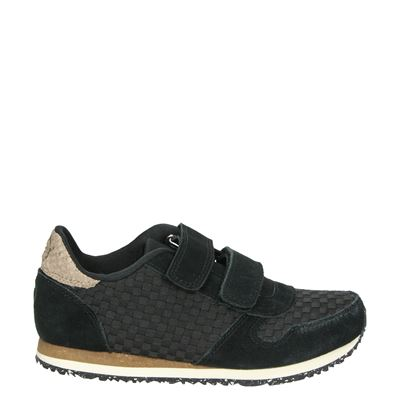 Woden Wonder jongens/meisjes sneakers zwart