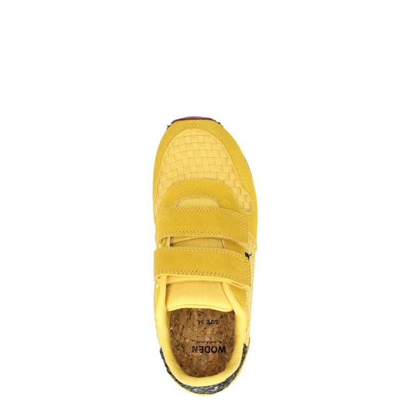 Woden Wonder Wonder - Klittenbandschoenen - Geel