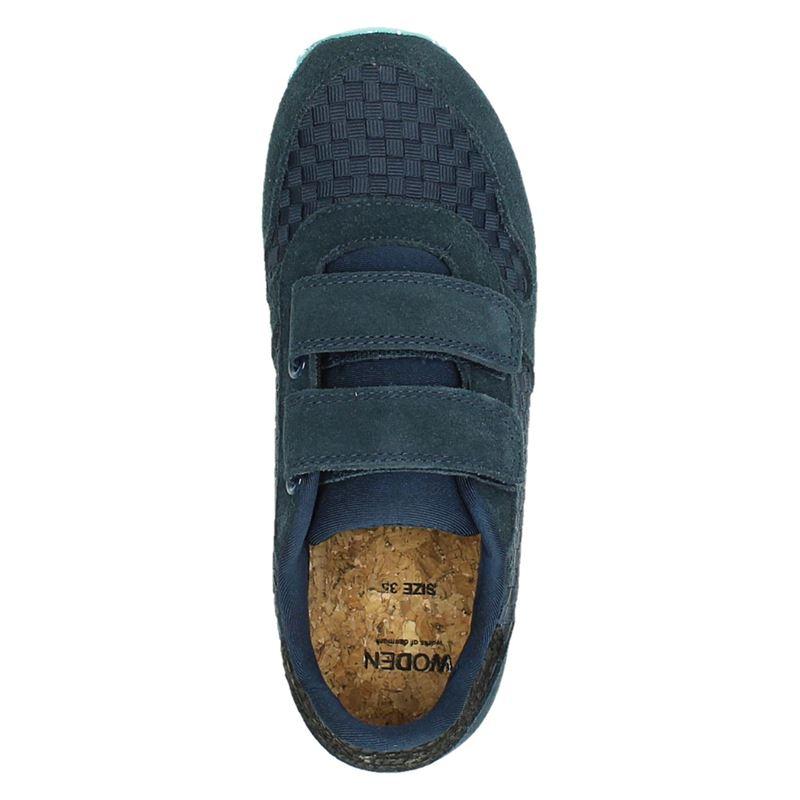 Woden Wonder Wonder - Klittenbandschoenen - Blauw
