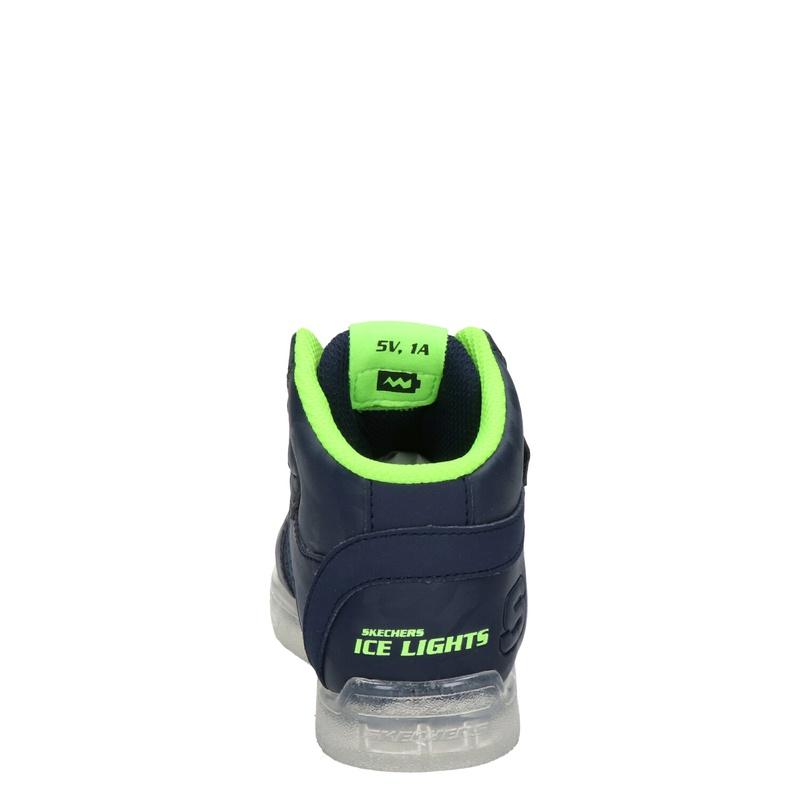 Skechers Ice Lights - Klittenbandschoenen - Blauw