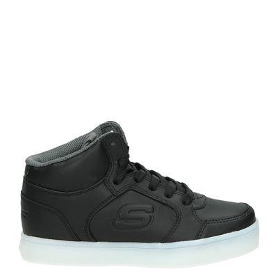 Skechers jongens/meisjes hoge sneakers zwart