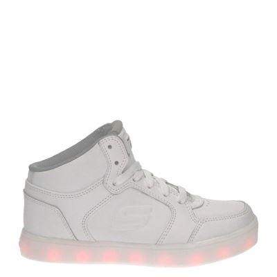 Skechers jongens/meisjes hoge sneakers wit