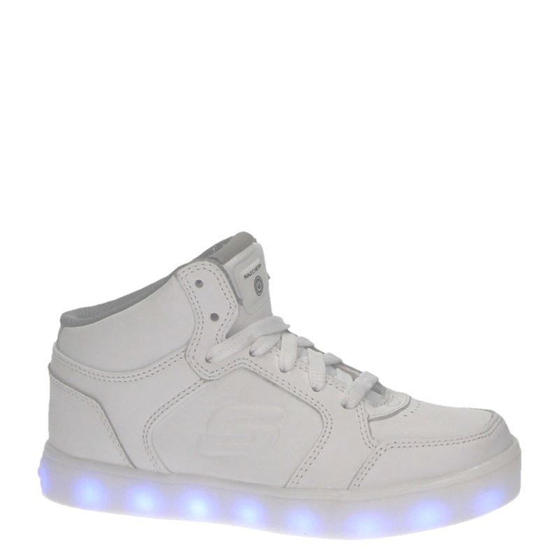 Skechers Energy Lights - Hoge sneakers - Wit