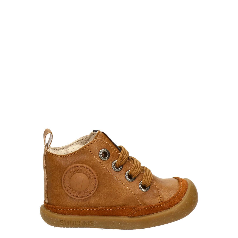 c4e61eb5830 Shoesme BF8W001 jongens/meisjes babyschoenen cognac