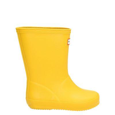 Hunter jongens/meisjes regenlaarzen geel