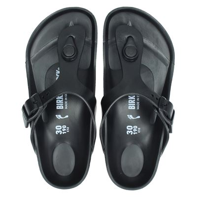 Birkenstock jongens/meisjes slippers zwart