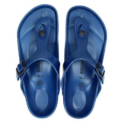 Birkenstock jongens/meisjes slippers blauw