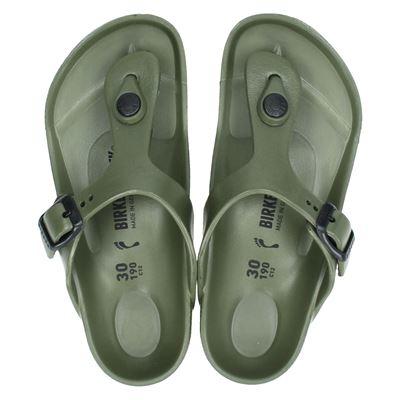 Birkenstock jongens/meisjes slippers groen