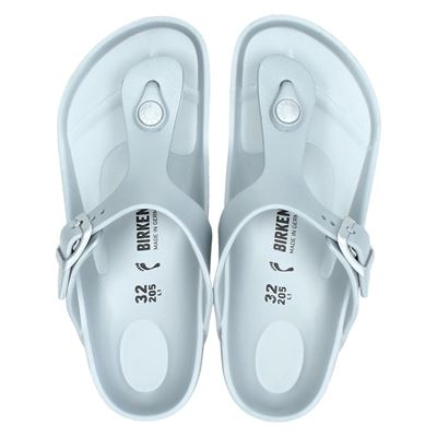 Birkenstock jongens/meisjes slippers zilver