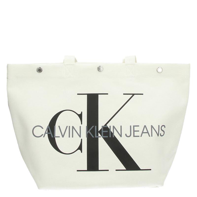 Calvin Klein Canvas Utility EW - Schoudertassen - Wit