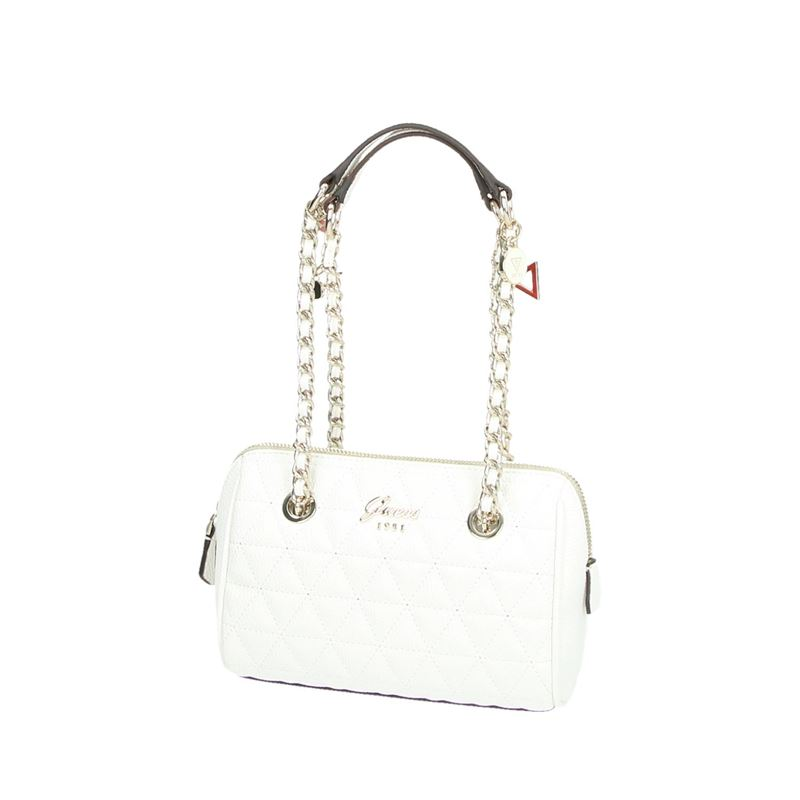 Guess Fleur Mini Satchel - Schoudertassen - Wit