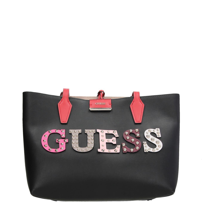 6a0321e1acf Guess Bobbi Inside out tassen schoudertassen zwart